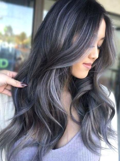 14 Of The Terrific Lavender Hair Color Ideas Worth Checking Out For 2019 In 2020 Grey Hair Wig Light Blue Hair White Ombre Hair