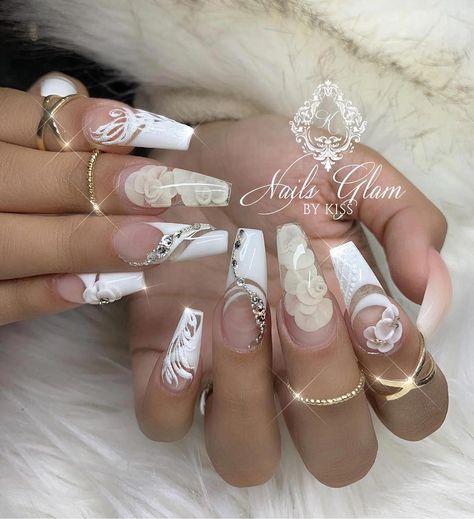 35 Unique Wedding Nails Design Ideas The Bride Should Try - Nail Art Connect