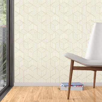 Goodale Vintage Geometrical 10 L X 24 W Peel And Stick Wallpaper Roll Peel And Stick Wallpaper Wallpaper Roll Textured Wallpaper