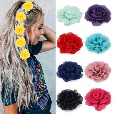 Girls Beach Big Flower Hair Clips Children Headwear Hair Accessories Hairgrips