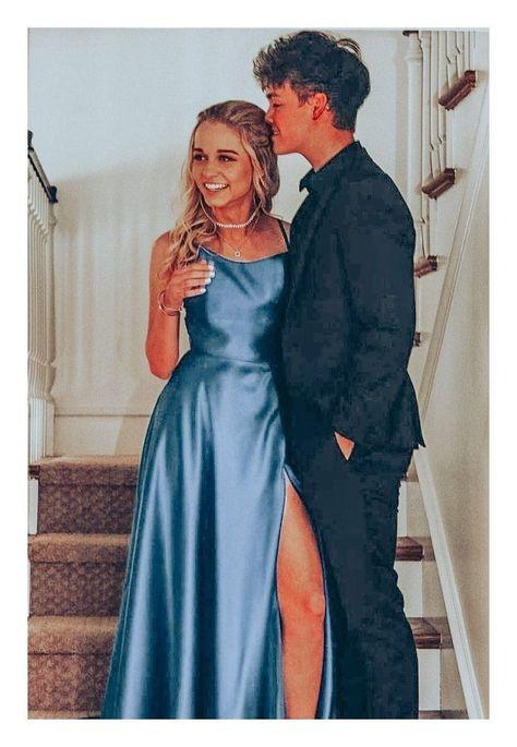 Pretty Prom Dresses, Prom Dresses Blue, Dance Dresses, Ball Dresses, Homecoming Dresses, Cute Dresses, Prom Party Dresses, Formal Evening Dresses, Satin Dresses