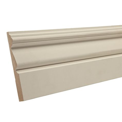 4 1 4 In X 12 Ft Primed Mdf Baseboard Moulding Actual 4 25 In X