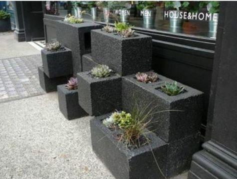 Bloc béton pour la déco de jardin en 30 idées créatives Gardens
