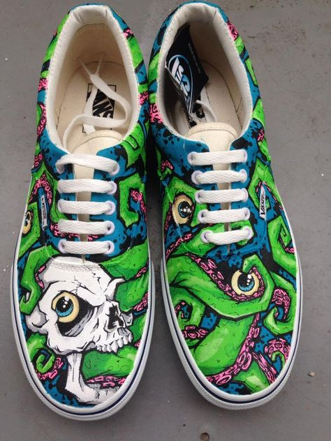Custom Van's done by Kali Verra at Johnny Ace Studios - Freaking Awesome! |  My Style | Pinterest | Freaking awesome, Studio and Painted shoes
