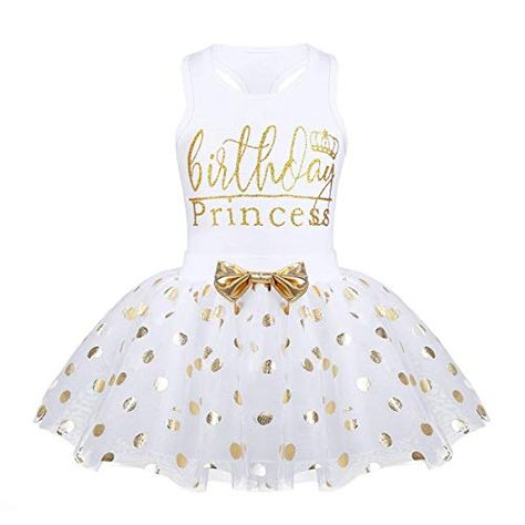 acf72f16fcbc Toddler Kids Baby Girls Outfits Birthday Princess Vest Sleeveless Top +Dot Bubble  Skirt Summer Clothes Set (White