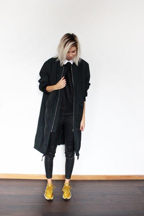 separation shoes eecbf 60414 H M TREND coat, DESIGNERS REMIX top, COS collar, ZARA pants, NIKE Huarache  Bronzine