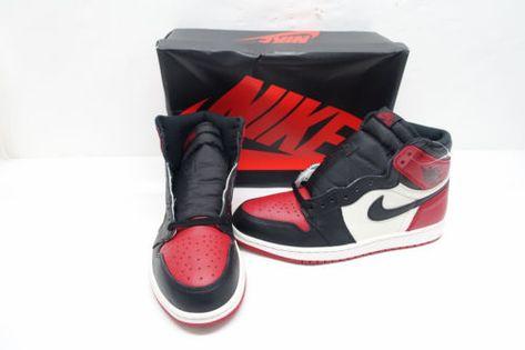 073e877e0b6585 Nike Air Jordan 1 Retro Bred Toe Gym Red Black White 555088 610 Sz10.5  P5 N5821