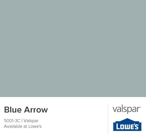 Our new bathroom color -- Blue Arrow by Valspar! We opted for the Reserve... Can't wait to show pictures! It's a beautiful color!