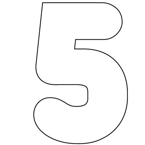 It's As Easy As 1-2-3 To Use Our Free Printable Numbers Digital Stamps: Free Printable Number 5