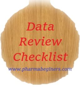 Checklist For Review Of Analytical Raw Data Generated During The