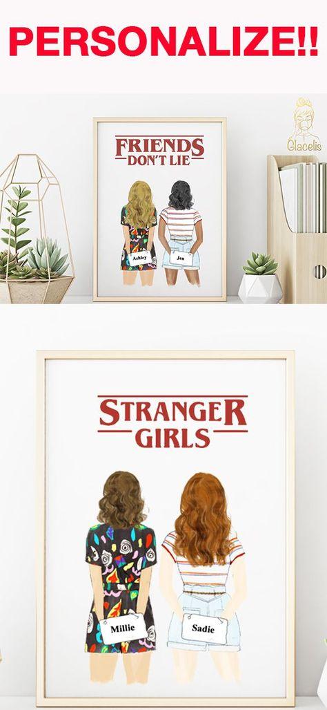 Stranger Girls - Friends Don't Lie Print Art