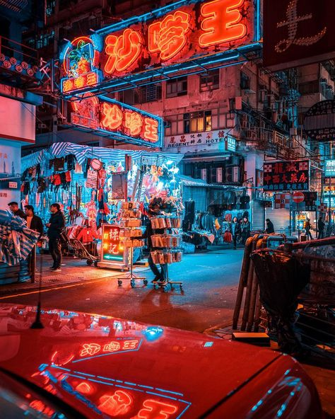 Electric Nightscapes Capture Moody Neon Streets of Shanghai