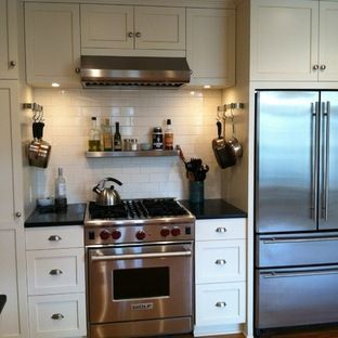 Framing Around Refrigerator  Google Search  Framing Around Frig Custom Remodel Small Kitchen Ideas Decorating Design
