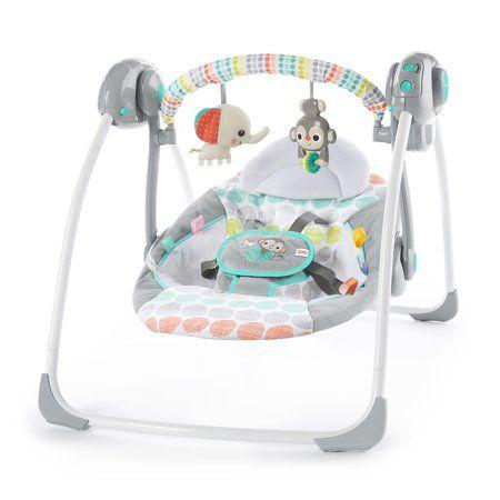 Ingenuity ConvertMe Swing-2-Seat Portable Swing Ridgedale Baby Bouncy Set