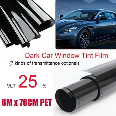 Sponsored Link 30 X 236 Gloss Black Car Tint Vinyl Wrap Film