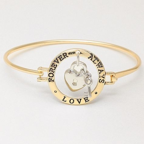 Forever and Always Bracelet in Gold