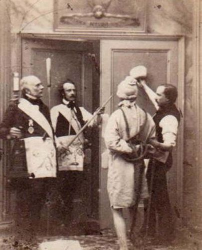 Historic-UNIQUE-1870s-ANTI-MASONIC-LODGE-INITIATION-RITUAL-PHOTO-Antique-amp-RARE  | Masonic ritual, Freemasonry, Masonic