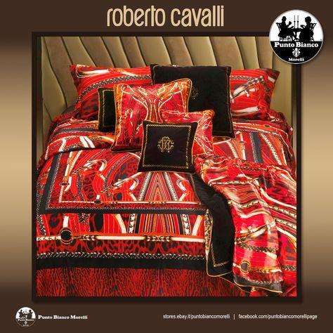 Copripiumino Piu Grande Del Piumino.Roberto Cavalli Sellerie Completo Copripiumino Full Bedsheet