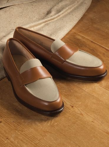 The Crewe Loafer in Tan Calfskin with