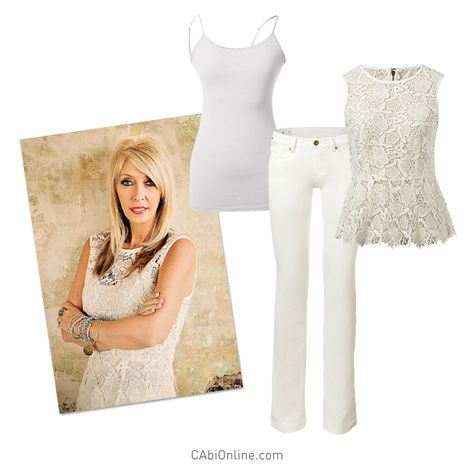 #CAbi - Nothing fresher than a white summer look. #OOTD #Cabiclothing #summer