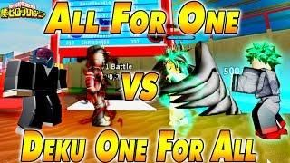 New 170k Code All For One Vs Deku One For All Boku No Roblox