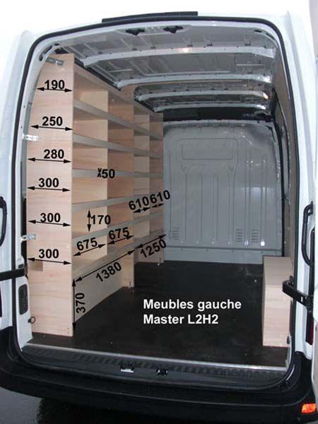 Renault Master Meubles Bois Kit Meubles Bois Renault Master L2h2 Renault Master Utilitaire Amenage Rangement Fourgon