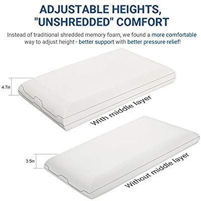 memory foam pillow reversible pillow