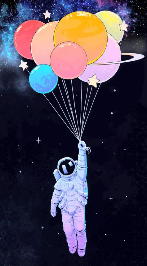 Galaxy balloons animation animations