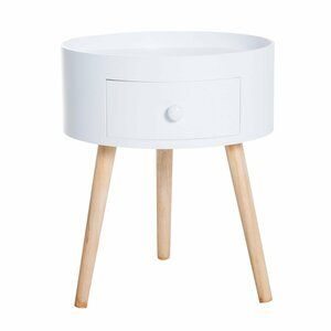 Zipcode Design Thomas Round Side Table With Storage Wayfair Co Uk In 2020 Round Coffee Table Round Nightstand