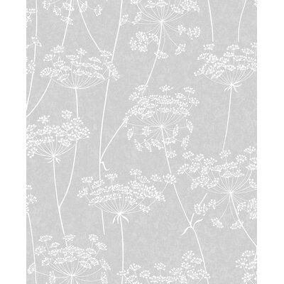 Innocence Aura 33 X 20 Floral And Botanical Wallpaper Color Cloud Gray In 2021 Grey Wallpaper Neutral Wallpaper Wallpaper Decor