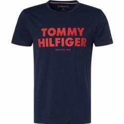 Tommy Hilfiger Herren Tshirt Baumwolle Navy Blau Tommy Hilfigertommy Hilfiger In 2020 Tommy Hilfiger Mens Tops Shirts