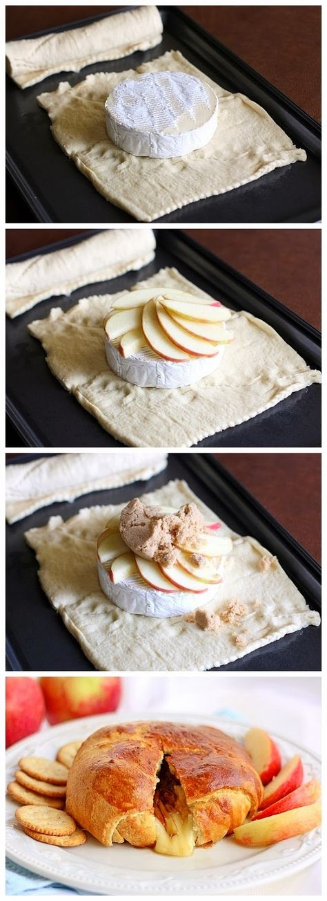 Crescent Wrapped Apple Brie - would like to find a gluten free way to make this with goat cheese and fruit.