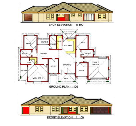 At Gosebo House Plans We Design The Unique Building Plans House Plans South Africa My House Plans Bedroom House Plans
