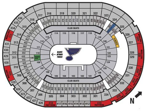 St louis blues seating chat scottrade center st louis st