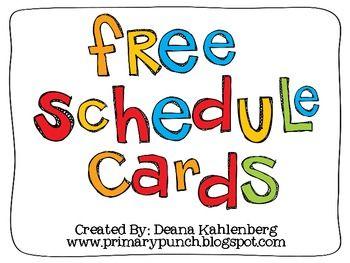 Schedule Cards {Freebie}