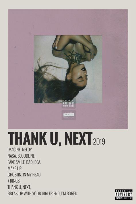Alternative Minimalist Music Album Poster Polaroid - Thank U,Next 2019