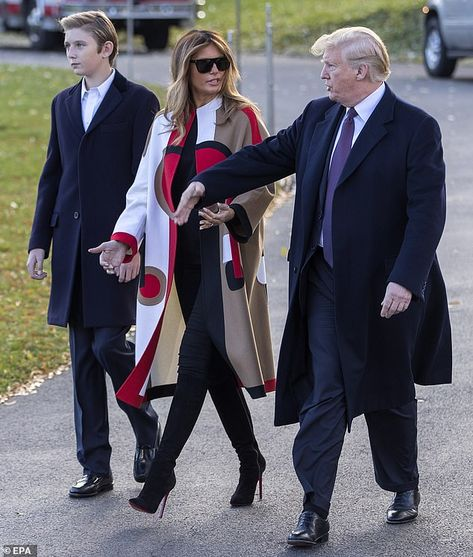 1b6a2cd76c2a Leaving: The Trump family is spending the Thanksgiving holiday at the  president's Mar-a-Lago estate in Palm Beach, Florida