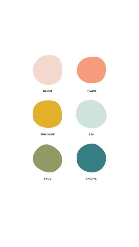 love this color combo deco palette colour These are the 6 Paint Colors We're Obsessing Over - Wit & Delight Scheme Color, Colour Pallette, Paint Color Combos, Spring Color Palette, Paint Color Palettes, Warm Color Palettes, Bright Colour Palette, Bright Bedroom Colors, Beach Color Palettes