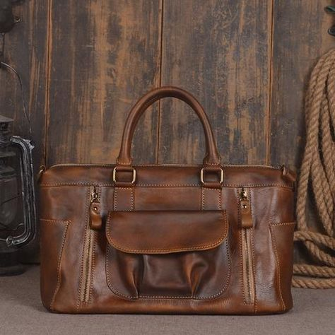7dbe802ded68 ROCKCOW Leather Unisex Real Leather Messenger Bag for Laptop Briefcase  Satchel Bag 9014