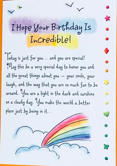 Hope Your Birthday Is Incredible! Birthday Greeting Card, bday card, special birthday, friend, Ashley Rice, Blue Mountain Arts, SPS Studios by AshleyRicebooks on Etsy