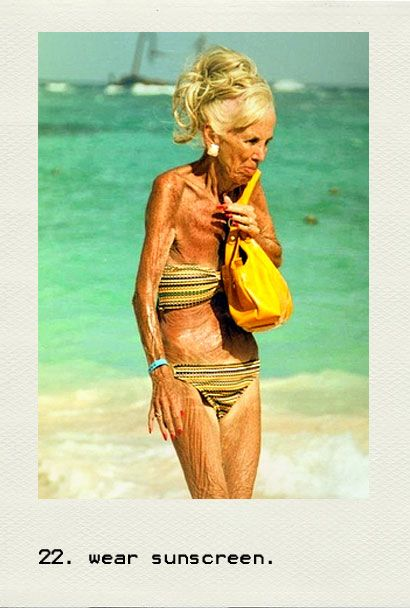 A 95 year old women wearing a bikini. A belly baring bikini! And to think of all those women 50 and 60 and 70 years younger than she is afraid to wear a bikini to the beach. She's so brave to live her life.