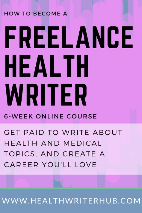 Become a Freelance Health Writer | CPD Accredited | Health Writer Hub