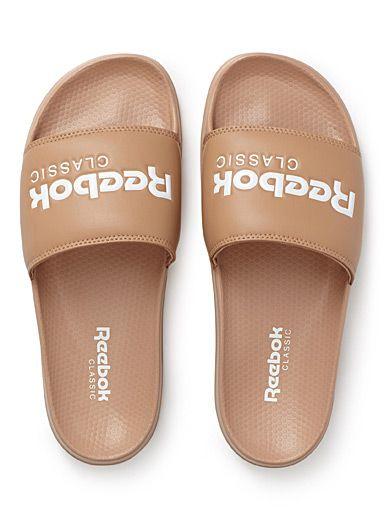 Black Classic Slide sandals   Reebok