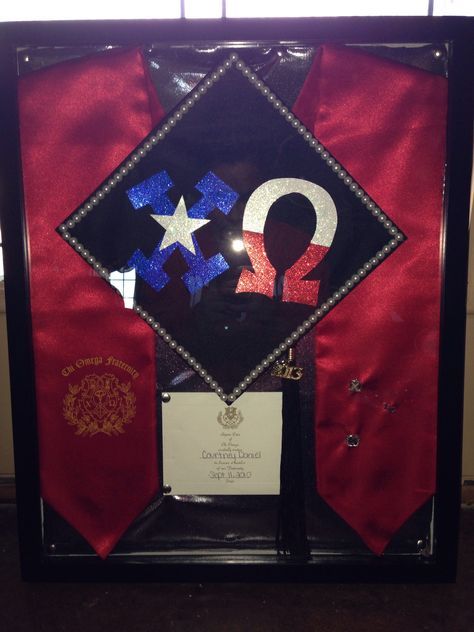 Chi Omega graduation shadow box