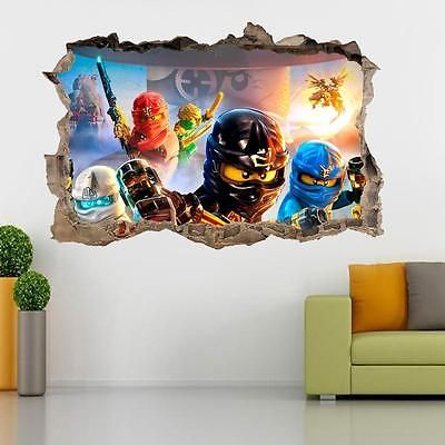 Excellent Lego Ninjago Smashed Wall 3D Decal Removable Graphic Wall Download Free Architecture Designs Scobabritishbridgeorg