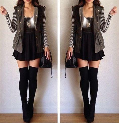Sexy Thigh High Socks - From Japan! Thigh High Socks Outfit, High Socks Outfits, Skirt Outfits, Cute Outfits, Thigh Socks, Knee Socks, Look Fashion, Trendy Fashion, Autumn Fashion