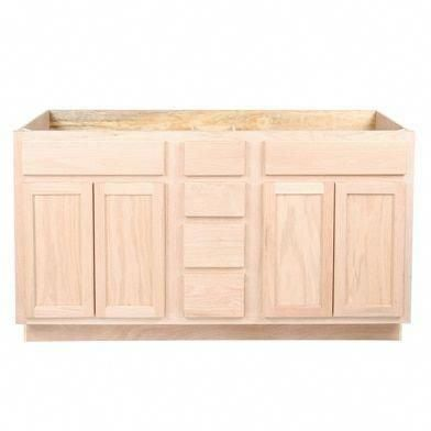 60 In Double Sink Vanity Bathroom Cabinet In Unfinished Poplar Shaker Style Unfinished Bathroom Vanities Bathroom Vanity Cabinets Double Sink Bathroom Vanity