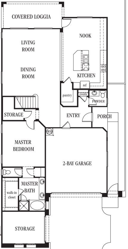 Master Bedroom Upstairs Or Downstairs capella | catalina 2 story, 3 bedrooms plus loft, 3.5 baths, 2 bay