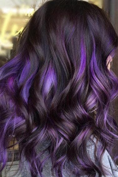 Long Wavy Ash-Brown Balayage - 20 Light Brown Hair Color Ideas for Your New Look - The Trending Hairstyle Purple Brown Hair, Brown Hair Cuts, Brown Hair With Blonde Highlights, Hair Color Purple, Hair Dye Colors, Light Brown Hair, Brown Hair Colors, Dark Hair With Color, Coloured Highlights