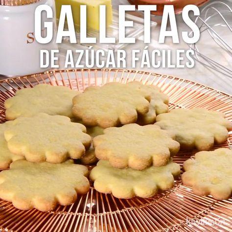 Si tienes ganas de hornear unas galletas para compartir en casa con todos; esta receta de galletas fáciles de azúcar es ideal, ya que tendrás como resultado las mejores galletas y todos las amarán.